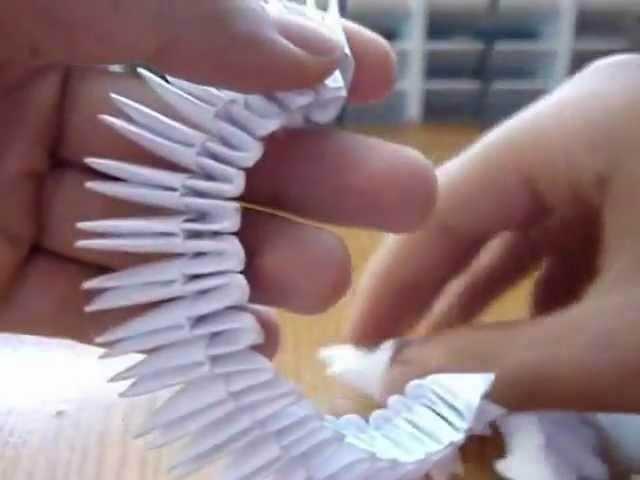 Como hacer origami 3d cisne