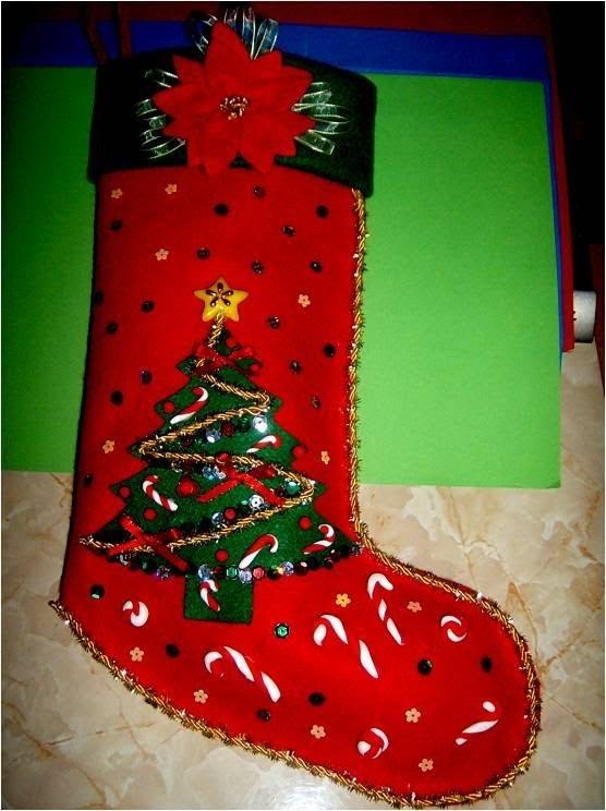 Bota Navideña con relieves escarchados - , Christmas Crafts