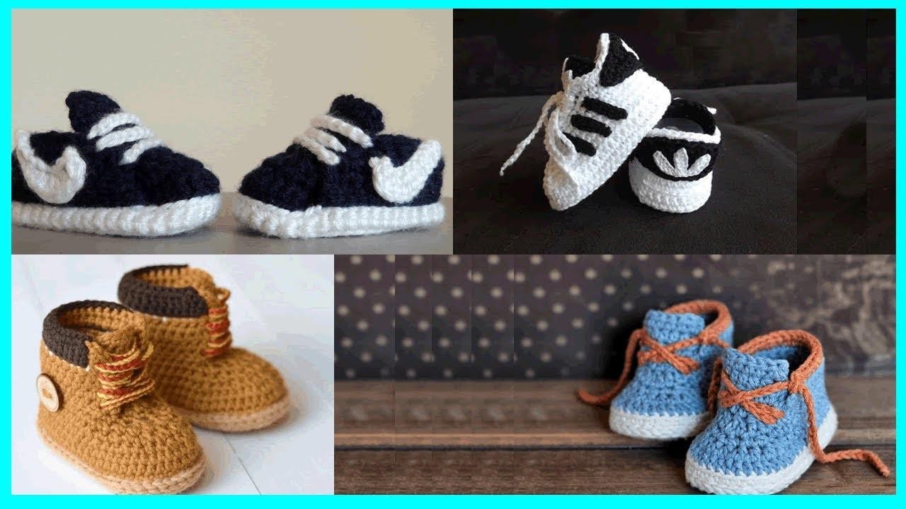 32 ideas de hermosos zapatitos para bebe niño tejidos en crochet