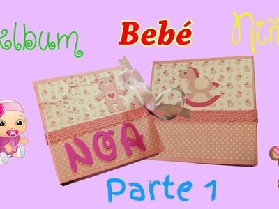 Álbum bebé niña ????????| DIY - scrapbook ???? parte 1