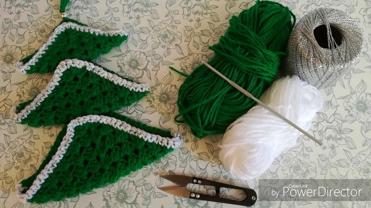 ARBOL DE NAVIDAD (colgante) Tejido a Crochet ( parte 1)