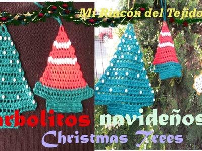 Arbolitos para adornos de Navidad - Christmas Tree - Mi Rincón del Tejido