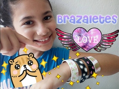 BRAZALETES CON PALITOS DE PALETA.DIY  HOW TO MAKE BRACELETS WITH POPSICLE STICKS