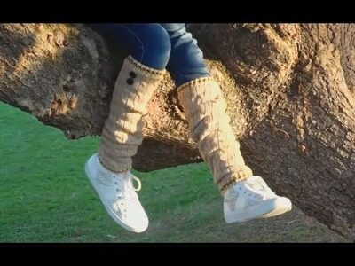 Calentones para los pies (recicla y teje). How to make Leg Warmers (recycled Sweater) DIY EASY