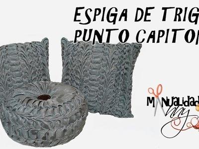 CLASE XXIX - ESPIGA DE TRIGO PUNTO CAPITONE | Manualidades Anny
