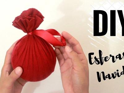 Como hacer esferas navideñas DIY con materiales reciclados