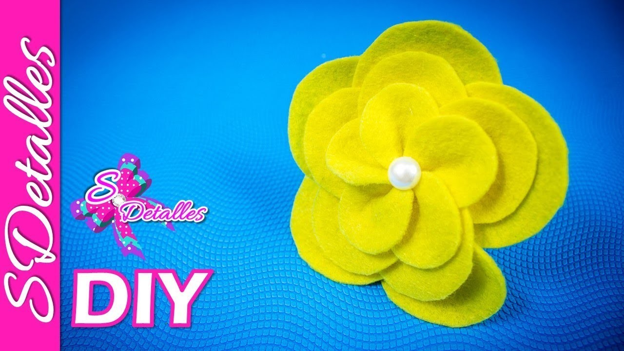 Como hacer flores: Flores de Fieltro #5 | Video# 58 | SDetalles | DIY