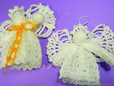 Como tejer ángel decorativo bautizo, navidad ganchillo crochet DIY
