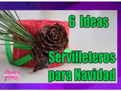 DIY. 6 Servilleteros Para Navidad Reciclando Cartón.  Napkin Ring For Christmas Recycling Cardboard