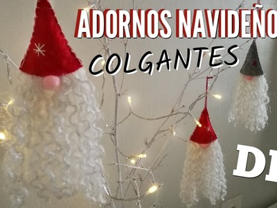 DIY: Adornos Navideños 2019 | EASY CHRISTMAS ORNAMENTS 2019 | Hanging Christmas Gnomes