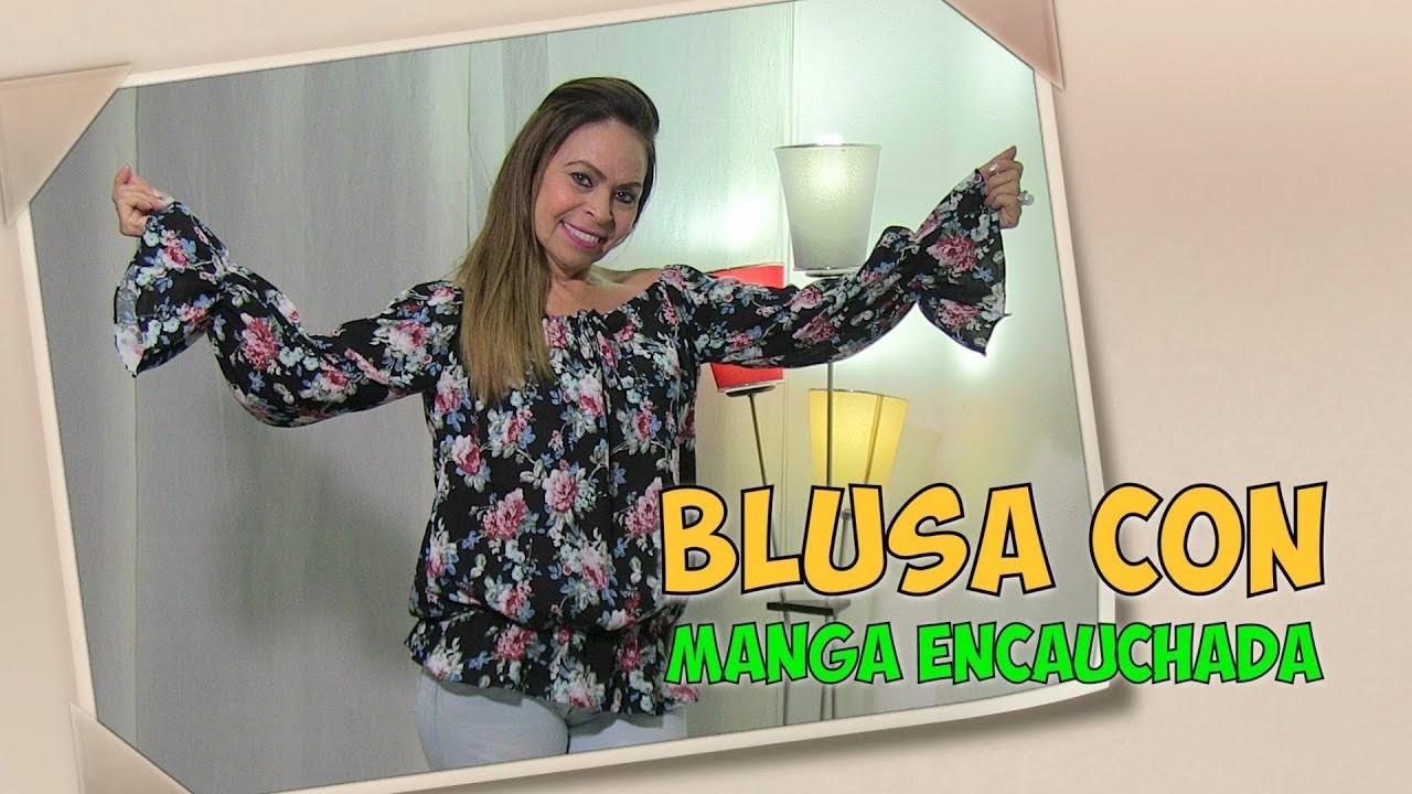 DIY Blusa Fácil con Manga Encauchada - Easy blouse with sleeves- Omaira tv