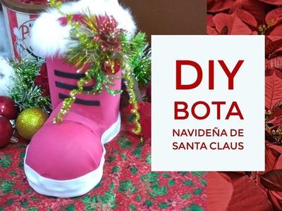 DIY - BOTA NAVIDEÑA DE SANTA CLAUS