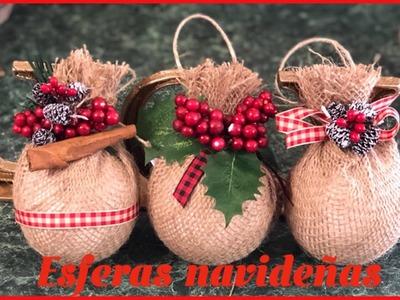 DIY.Cómo hacer esferas navideñas ????
