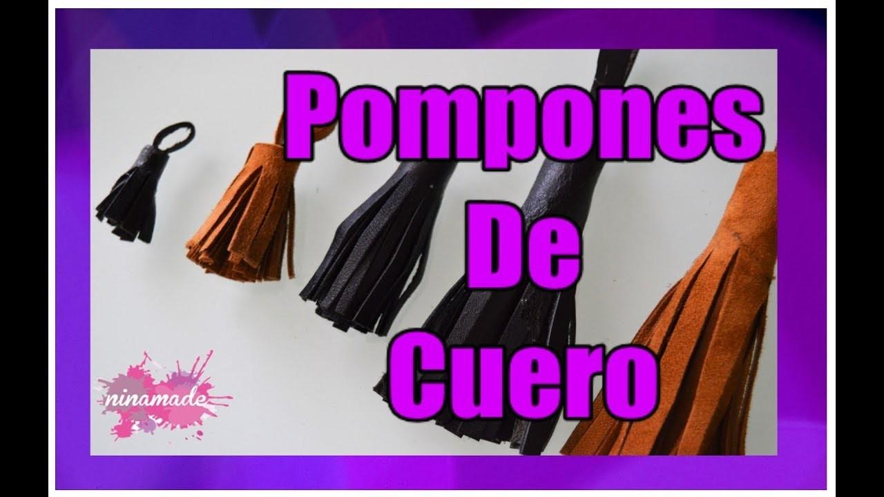 DIY.Como Hacer Pompones De Cuero.How To Make Leather Tassels