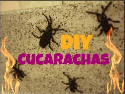 DIY Cucarachas para Halloween ►Decoración◄⊙﹏⊙