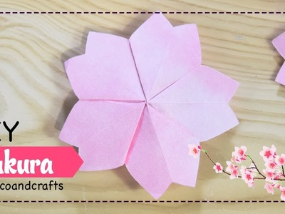 DIY Flores de papel cerezo. Sakura - DecoAndCrafts