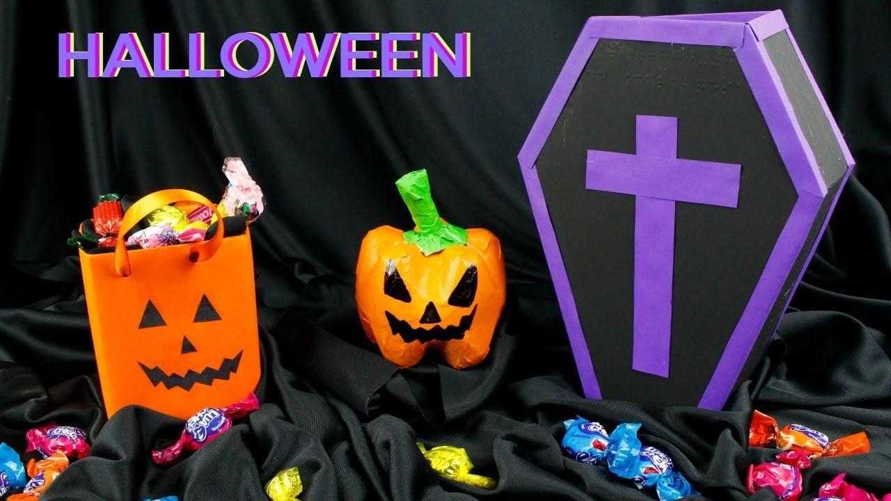DIY Halloween - Cajón - Cesta.Canasta o Dulcero - material reciclado