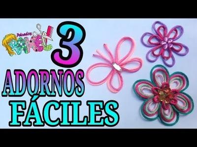 DIY: MOÑOS Y DECORACIONES. MOÑOS  DE CORDÓN O COLA DE RATA FÁCILES. Peinados Rakel 1