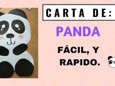 DIY | TARJETA DE PANDA PARA REGALAR | EL RINCÓN DEL ARTE