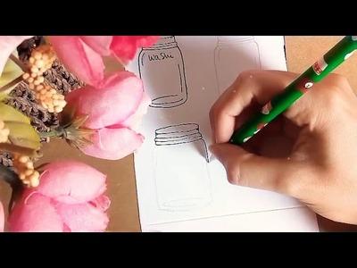 DIY Washi Tape Sample Jar