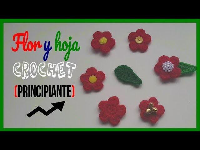 Flores y hojas a crochet (principiantes )