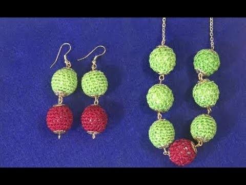 Haste un juego de joyas tejido a  crochet