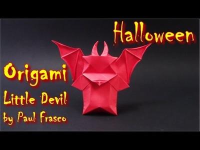Helloween Origami Little Devil by Paul Frasco - Yakomoga Helloween Origami easy tutorial