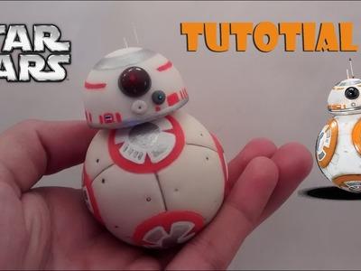 How to make a BB-8 polymer clay. Cold porcelain tutorial   Como hacer a BB-8 en porcelana fría