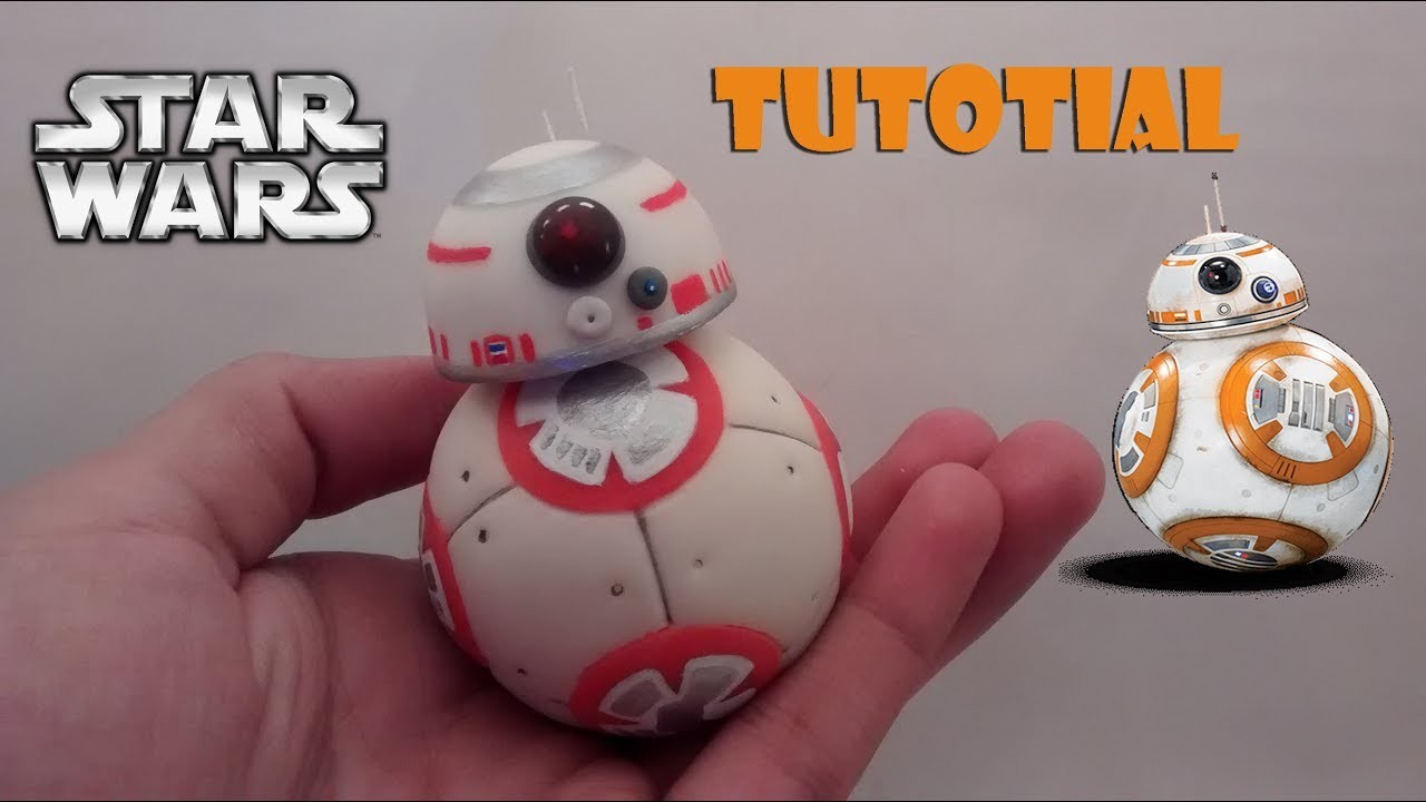 How to make a BB-8 polymer clay. Cold porcelain tutorial | Como hacer a BB-8 en porcelana fría