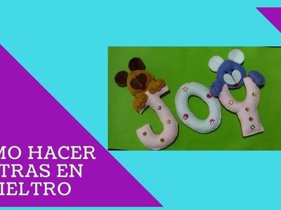 JOY | Cómo hacer letras en PAÑO LENCY | MOLDES