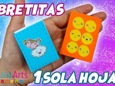 Libretitas de 1 sola Hoja - DIY - Origami Modular- Fácil!!!