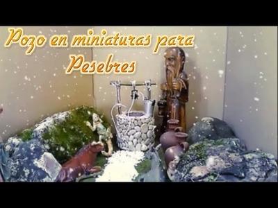 MANUALIDADES DE CARTÓN   POZO PARA PESEBRES EN NAVIDAD   DIY