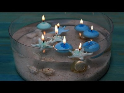 Manualidades en casa con velas flotantes