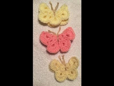 Mariposa tejida a crochet, butterfly a crochet