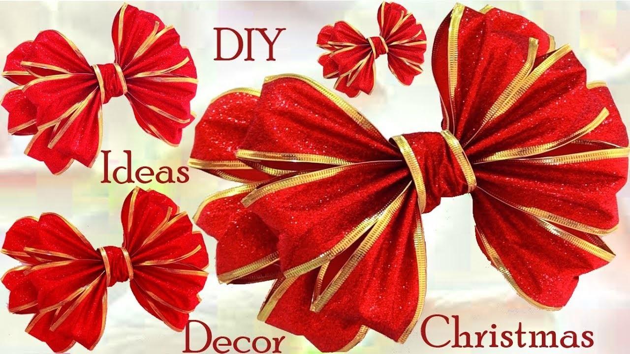 Moños lazos Decoraciones de Navidad ideas Diy Christmas Gifts Ideas Decor
