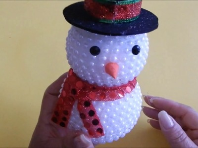 Muñeco de Nieve con Perlas: Manualidad | DIY