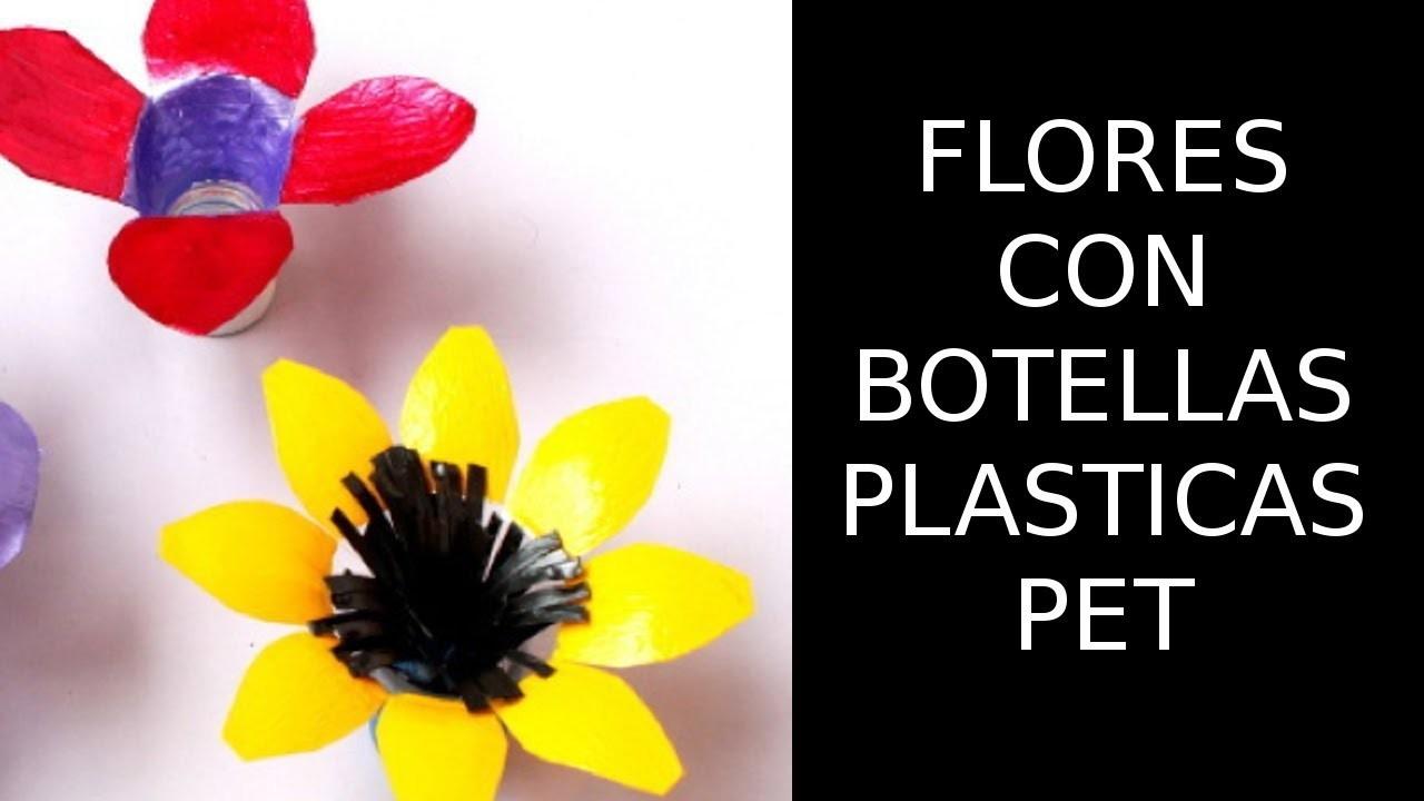 Reciclaje de Botellas Plásticas PET, Manualidades: Flor