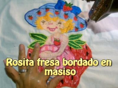 Rosita fresa bordado en masiso |Creaciones y manualidades angeles