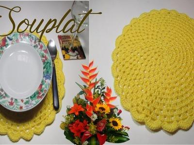Souplat o individual a crochet paso a paso   - Mi Rincón del Tejido