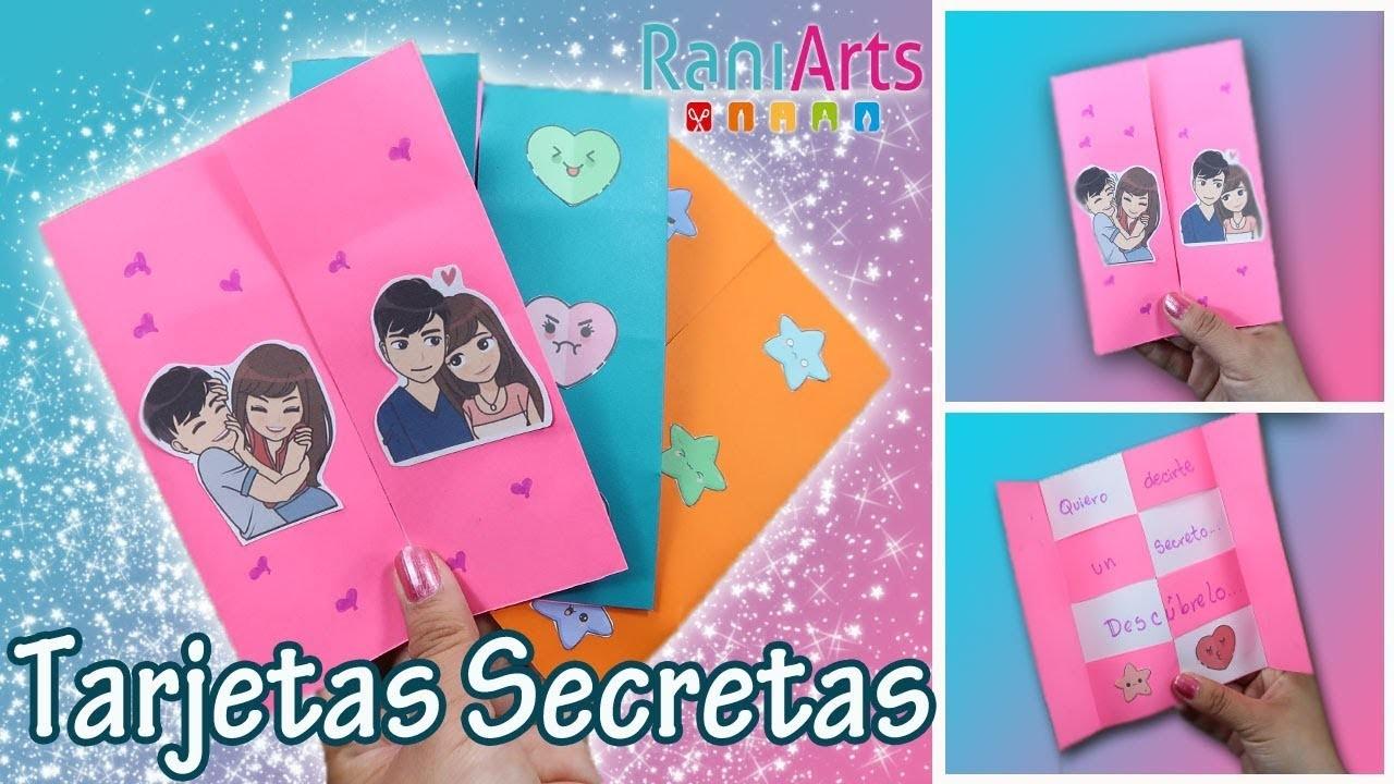 Tarjetas Mágicas con mensaje secreto!!! - DIY- Fáciles