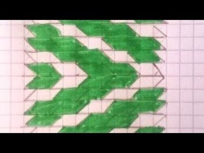 Tejido de cuerda con dibujo en diagonal (1): preparación del diseño