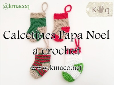 Tutorial Crochet: Calcetín, media o bota de Papa Noel. How to Crochet a Christmas Stocking.