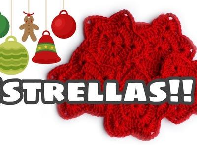 Tutorial de navidad: estrella de crochet fácil con Tutitas Tejedoras!