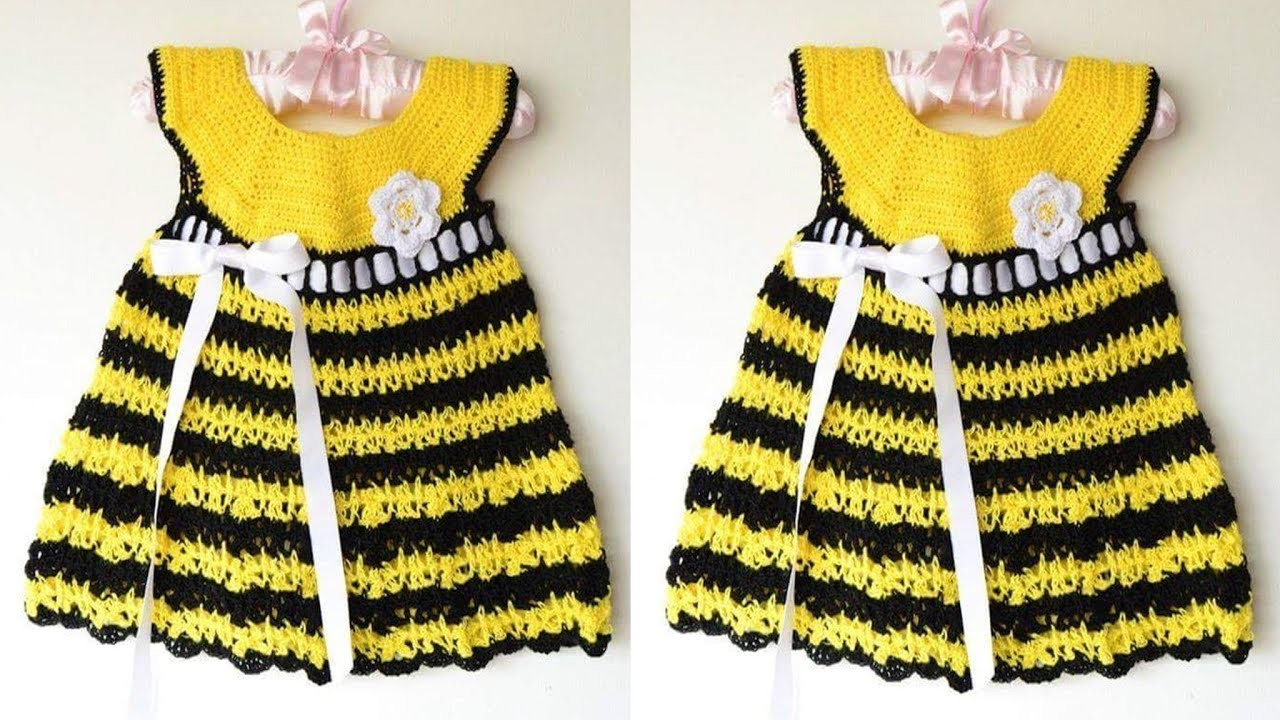 Vestido Para Niña Tejido A Crochet