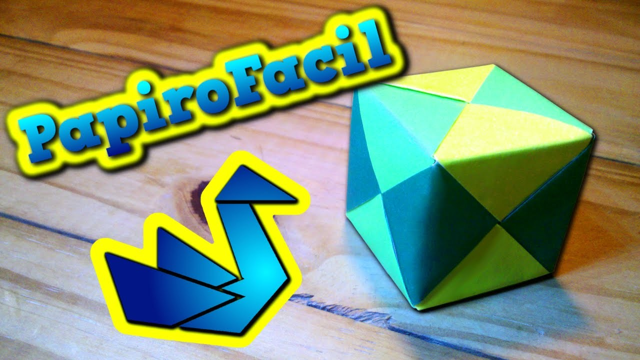 Origami facil || Como hacer un cubo multicolor de papel