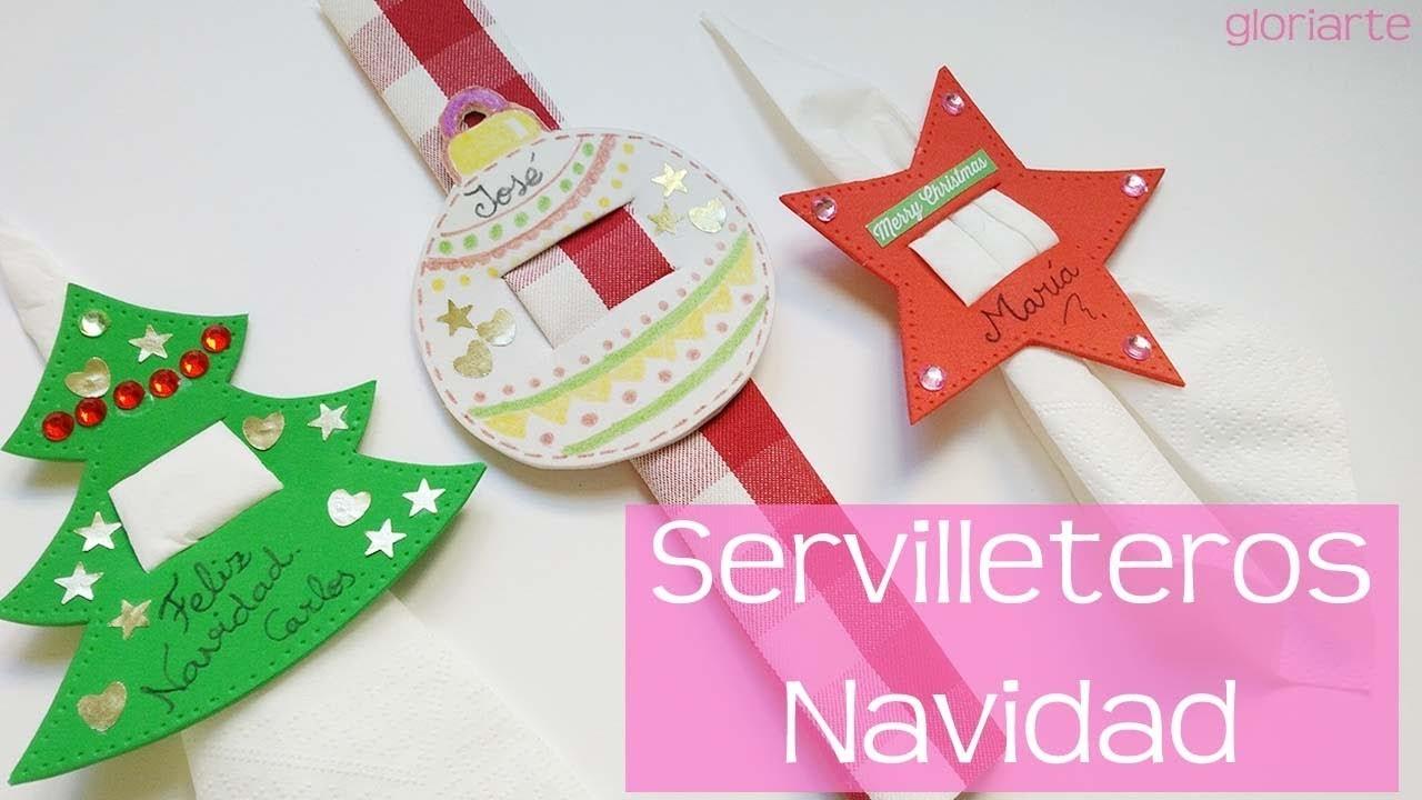 Servilletero para Navidad. Christmas napkin holder.