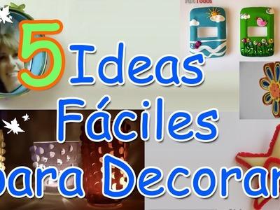 5 Ideas DIY Increibles y Fáciles para decorar  (LOW COST) - Manualidades Para Todos