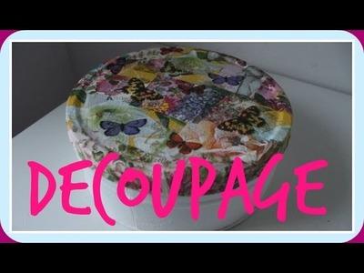 Cómo aprovechar tus restos de servilletas - Decoupage estilo Patchwork - DIY - Tutorial Reciclado