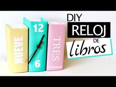 COMO HACER UN RELOJ CON LIBROS - DIY ROOM DECOR