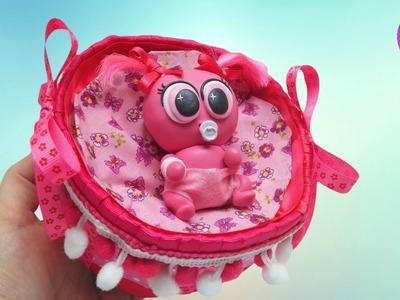 Como hacer una cuna para ksi meritos y bebes de juguete - Manualidades para niños